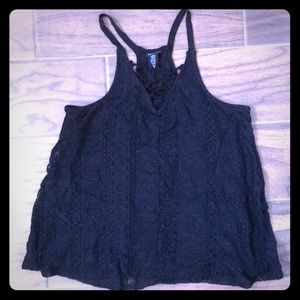 Torrid black lace tank
